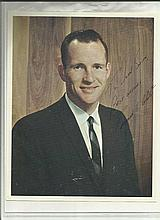 Edward White Jnr signed and dedicated 10 x 8 colour photo. Exceptionally rare. American engineer, U.