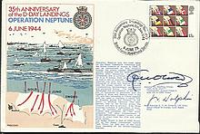1979 RNSC(2)20 Royal Navy cover commemorating the 35th Anniversary of the D-Day Landings, Operation