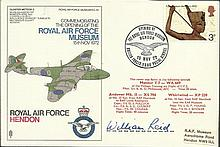 Bill Reid VC SC40 RAF Hendon, Commemorating the Opening of the Royal Air Force Museum. Flown in a Me
