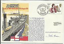 1980 RNSC(3)3 Royal Navy cover commemorating the 65th Anniversary of the Sinking of the U27 by the Q