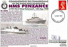 1998 Hockaday Navy cover, Series Five, number 1. Commemorating the Commissioning of the Single Role