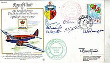 1990 Royal Visits RAF cover, commemorating the Royal Visit of His Royal Highness The Duke of Kent to