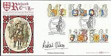 Prof Richard Holmes1998 The Queens Beasts Benham BLCS139 official FDC signed by Professor Richard Ho