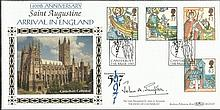 Rev Dr John A Simpson signed Missions of Faith Benham BLCS125 FDC. Good condition