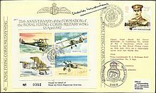 C Widdows DFC 1987 JSF1 RAF cover commemorating the 75th Anniversary of the Formation of the Royal F