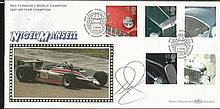 Nigel Mansell signed Benham BLCS121b, 1996 Cars official FDC. Good condition