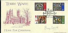 Terry Waite signed A G Bradbury Home for Christmas cover. Good condition