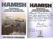 Signed WW2 Book. Hamish   -    The Story Of A Pathfinder The memoirs of GROUP CAPTAIN HAMISH MAHADDIE DSO DFC AFC (Bar).  Hardback First Edition 1989