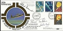 Brian Trubshaw, Neville Duke, Roland Beamont signed Benham official 1991 Science FDC BLCS62  50th ann. Whittle Jet Engine. Good condition