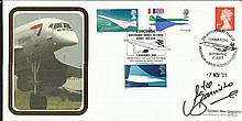 Capt Mike Bannister signed Benham 2001 Concorde cover comm. the re-introduction of the London   -    New York service. Good condition