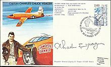 Brig Chuck Yeager signed on his own Test Pilot cover. Good condition