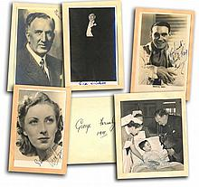 1940s Autographs on loose album pages some photos. Levante signed 6 x 4 b/w photo cheering up a child in hospital, Chester Morris signed album page wi