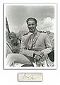 Errol Flynn signature piece with 10 x 8 b/w photo