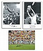 Football photos, three large sized 16 x 20 photos
