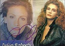 Julia Roberts signed colour card