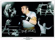 Billy Walker boxing champion Signed 16 X 12photo.