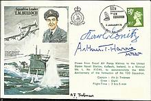 Karl Donitz and Arthur Harris signed Sqn Ldr