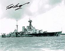 Ted Briggs HMS Hood Survivor Signed 10 X 8 photo.