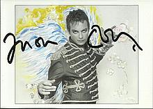 Julian Clary signed colour postcard