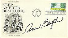 Ann Blyth signed Keep America Beautiful FDC 1969.