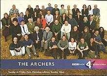 The Archers colour card photo signed on the
