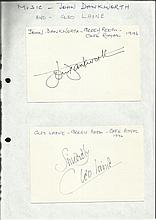 John Dankworth & Cleo Laine signed on two 6 x 4