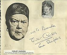 Violet Carson signature piece fixed to Autograph