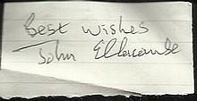 John Ellacombe Battle of Britain pilot signed