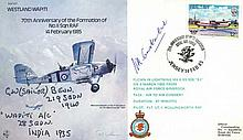 RAF Bomber Command Westland Wapiti cover signed by