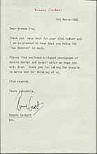 Ronnie Corbett signed typed letter 1983