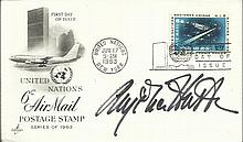 Angelica Houston signed 1963 United Nations FDC.