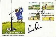 Arnold Palmer signed Golf on Mann FDC signed FDC.