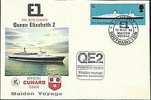 Official Cunard cover. Maiden voyage.