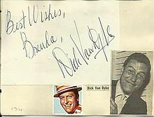 Dick Van Dyke signature piece fixed to Autograph