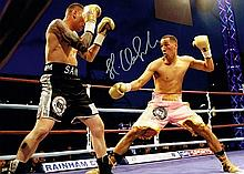 James Degale boxing champion Signed 16 X 12 photo.