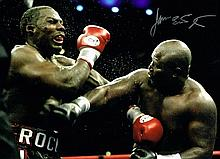 James Toney boxing champion Signed 16 X 12 photo.