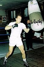 Henry Cooper boxing champion Signed 12 X 8photo.
