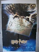 Harry Potter stars James and Oliver Phelps signed