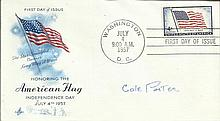 Cole Porter signed 1957 Honoring the American Flag