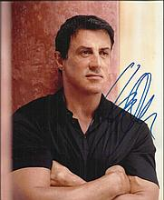 Sylvester Stallone signed colour 10x8 photo.
