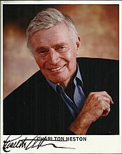 Charlton Heston signed colour 10x8 photo