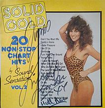 Linda Lusardi signed LP cover