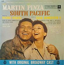 Mary Martin signed LP cover for South Pacific.