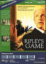 John Malkovich signed flyer for Ripley's Game