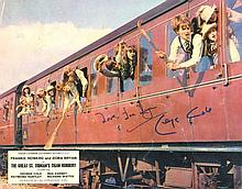 George Cole signed A3 Lobby Card with picture from
