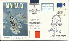 CPO A Johns HMS Kingston Malta Convoys 1942 signed