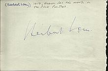 Herbert Lom signed autograph page with Mary