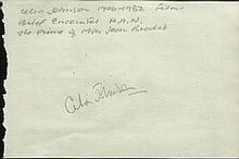 Celia Johnson signed autograph page. Good