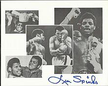 Leon Spinks signed 10x8 b/w photo. Good condition