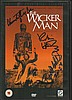Wicker Man autographed DVD directly on the front